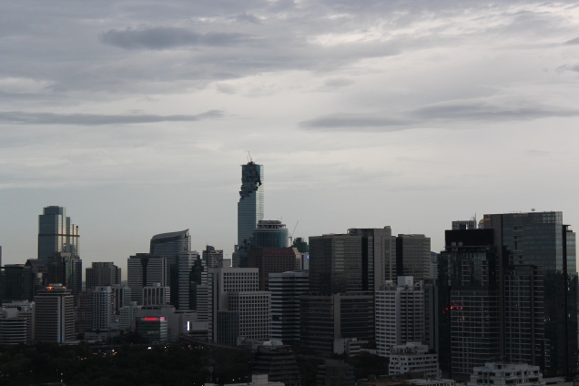 BKK skyline from Th. Wittayu June 5th