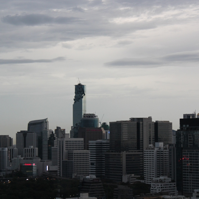 BKK skyline from Th. Wittayu June 5th